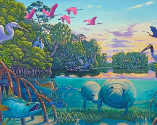 manatee-river-paint-by-number