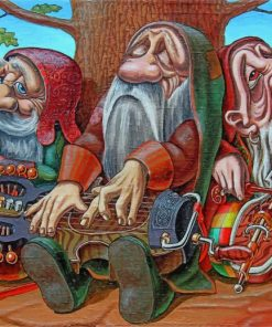 musician-dwarfs-paint-by-numbers