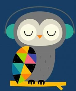 owl-listening-to-music-paint-by-number