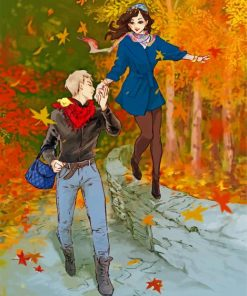 romantic-couple-walking-paint-by-numbers