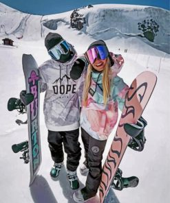 skiing-couple-paint-by-number