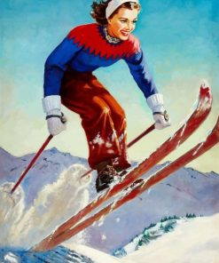 skiing-girl-jump-paint-by-number