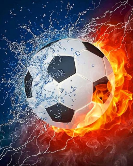 soccer-ball-on-fire-paint-by-number