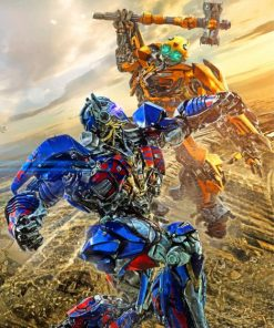 transformers-battle-scene-paint-by-number