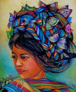 woman-with-butterflies-from-guatemala-paint-by-numbers