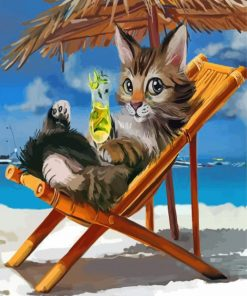 cat-enjouing-the-summer-paint-by-number