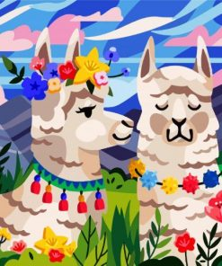 cute-lamas-paint-by-number
