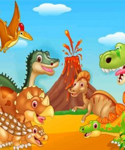 dinosaur-and-volcano-paint-by-numbers