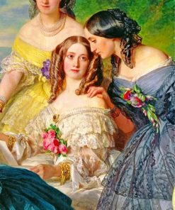 empress-eugenie-surrounded-by-her-ladies-in-waiting-paint-by-number