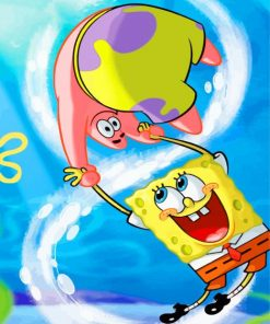 spongbob-and-his-friend-paint-by-number