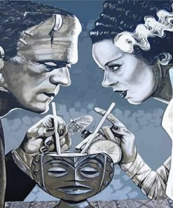 frankenstein-and-bride-art-paint-by-numbers