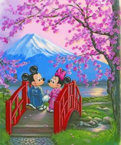 mickey-and-minnie-in-japan-paint-by-numbers
