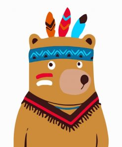 native-bear-paint-by-numbers