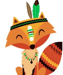 native-fox-paint-by-numbers