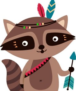 native-raccoon-paint-by-numbers