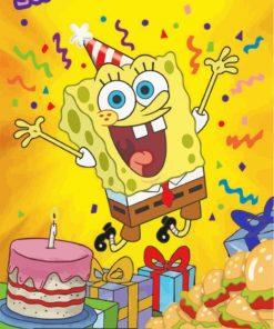 Spongebob Birthday paint by numbers