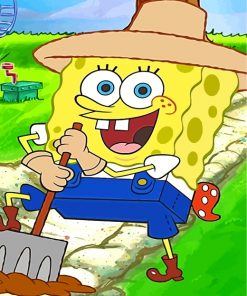 spongebob-squarepants-farmer-paint-by-numbers