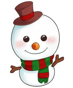 snowman-cute-christmas-paint-by-numbers