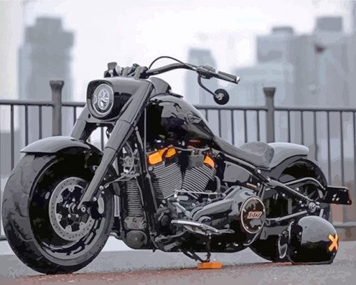 Harley Davidson Motorcycle paint by numbers