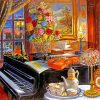 Vintage Classy Piano paint by numbers