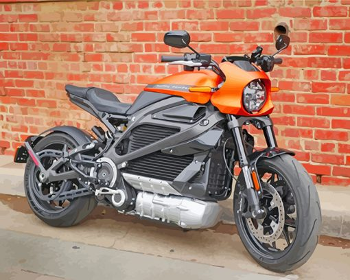 Aesthetic Harley Davidson Motorcycle paint by numbers