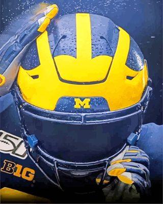 University Of Michigan Football Helmet  paint by numbers