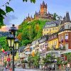Germany Cochem Castle paint by numbers
